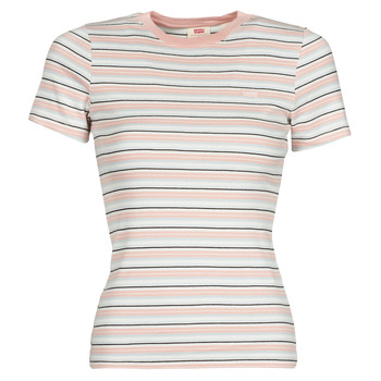 Vêtements Femme T-shirts manches courtes Levi's SS RIB BABY TEE Multicolore