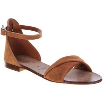 Chaussures Femme Sandales et Nu-pieds Champ De Fleurs 04ZARA Camel