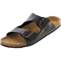 Chaussures Homme Mules Treeker9 Eva cuir double strap noir Noir
