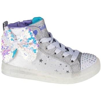 Chaussures Enfant Baskets montantes Skechers Shuffle Brights 20 Blanc, Gris