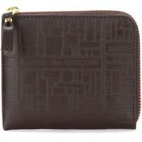 Sacs Portefeuilles Comme Des Garcons Bustina Wallet Comme Des Garçons in pelle stampata marrone Brun