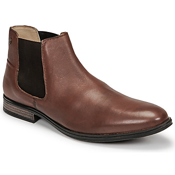 Chaussures Homme Boots Jack & Jones JFW FRANK LEATHER Cognac