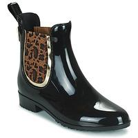 Chaussures Femme Bottes de pluie Les Tropéziennes par M Belarbi RAINBOO Noir / Léopard
