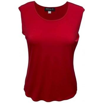 Vêtements Femme Tout accepter et fermer Georgedé Top Victoria Sans Manche en Jersey Rouge Rouge