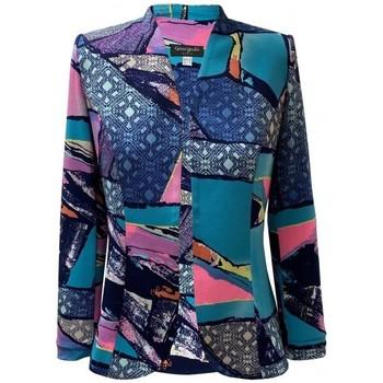 Vêtements Femme Vestes Georgedé Veste Léa en Jersey Multicolore
