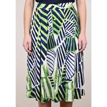 Vêtements Femme Jupes Georgedé Jupe Julia jersey imprimée verte Multicolore