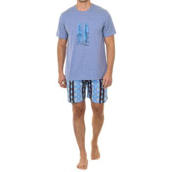 Vêtements Homme Pyjamas / Chemises de nuit Kisses And Love Kisses & Love Pyjama M / Short Bleu