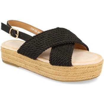 Chaussures Femme Sandales et Nu-pieds H&d YZ19-155 Negro