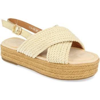 Chaussures Femme Sandales et Nu-pieds H&d YZ19-155 Oro
