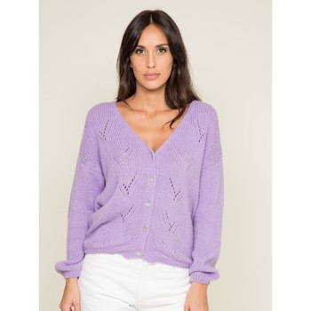 Vêtements Femme Gilets / Cardigans Dona X Lisa Gilet KALISSY Violet