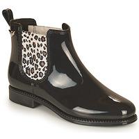 Chaussures Femme Bottes de pluie Les Petites Bombes RAIN Noir / Leopard