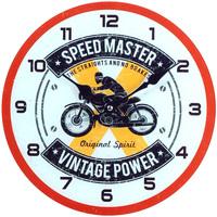 Maison & Déco Horloges Retro Pendule en verre Speed Master 30 cm Blanc