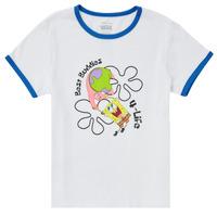 Vêtements Fille T-shirts manches courtes Vans VANS X SPONGEBOB BEST BUDDIES RINGER Blanc