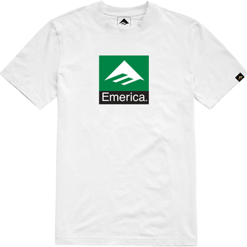 Vêtements Homme T-shirts manches courtes Emerica Classic Combo Tee Weiss