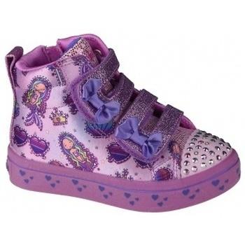 Chaussures Fille Baskets montantes Skechers Twi-Lites Mermaid Gems rose