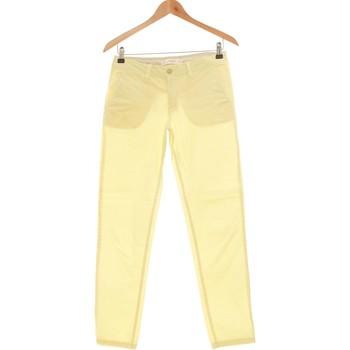 Vêtements Femme Chinos / Carrots Mango Pantalon Droit Femme  34 - T0 - Xs Jaune