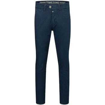 Vêtements Homme Chinos / Carrots Timezone Pantalon slim Janno  ref 52349 bleu nuit Bleu