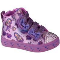 Chaussures Enfant Baskets montantes Skechers Twi-Lites Mermaid Gems Rose