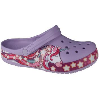 Chaussures Enfant Sabots Crocs Fun Lab Unicorn Band Clog Violet