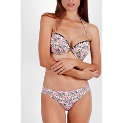 Vêtements Femme Maillots de bain 2 pièces Admas Ensemble 2 pièces bikini push-up dos nu Skin Pink FLowers Imprimé