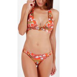Vêtements Femme Maillots de bain 2 pièces Admas Ensemble 2 pièces bikini dos nu Jungle Fever orange Orange