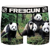 Sous-vêtements Garçon Boxers Freegun Boxer Garçon Microfibre recyclée PAN Vert Noir Vert