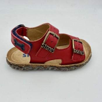 Chaussures Garçon Sandales et Nu-pieds Stones and Bones WHAM SANDALE Rouge