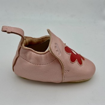 Chaussures Fille Chaussons bébés Easy Peasy BLUBLU FLEUR CHAUSSON CUIR Rose