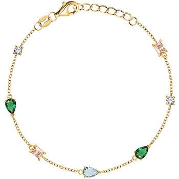 Montres & Bijoux Femme Bracelets Cleor Bracelet  en Argent 925/1000 Jaune et Oxyde Multicolore Jaune
