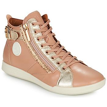 Chaussures Femme Baskets montantes Pataugas PALME Beige / Léo