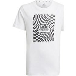 Vêtements Garçon T-shirts manches courtes adidas Originals Graphic Tshirt 1 Blanc