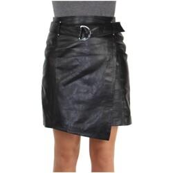 Vêtements Femme Jupes Daytona Jupe Rose Garden en cuir ref_47958 Noir Rose