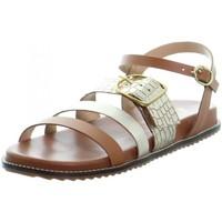 Chaussures Femme Sandales et Nu-pieds L'atelier Tropezien Sandales Atelier Tropézien ref 52070 platinium Argenté