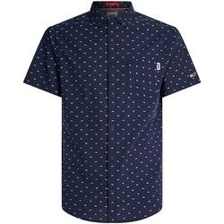 Vêtements Homme Chemises manches courtes Tommy Jeans Chemise à manches courtes  ref 52560 marine Bleu
