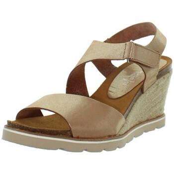 Chaussures Femme Escarpins Marila Talons compensés  en cuir ref_neox43588-multi Marron