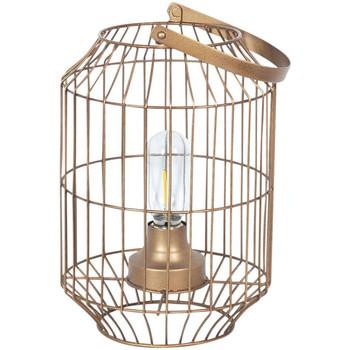 Maison & Déco Lampes à poser Retro Lampe en métal transportable LED Doré