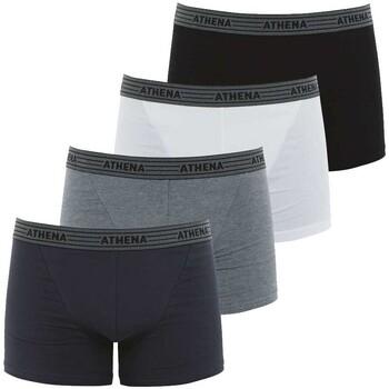 Sous-vêtements Homme Boxers Athena - boxer NOIR GRIS CHINE GRIS ANTHRACITE BLANC