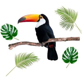 Maison & Déco Stickers Stc Adhésif décoratif Mural Toucan Vert