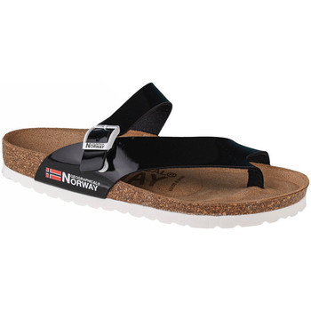Chaussures Femme Tongs Geographical Norway Sandalias Infradito Donna Noir