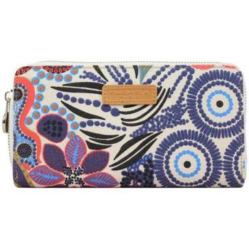 Sacs Femme Porte-monnaie Fuchsia Portefeuille toile  F9612 Beige motif ethnique Multicolor