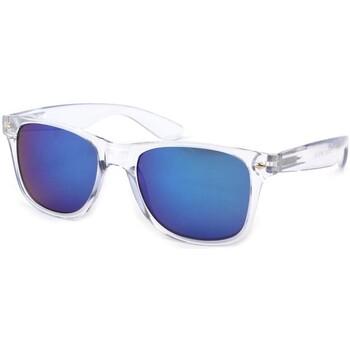 Montres & Bijoux Lunettes de soleil Eye Wear Lunettes Soleil Aero avec monture transparente Bleu
