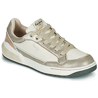Chaussures Femme Baskets basses Pepe jeans MARBLE GLAM Blanc / Doré