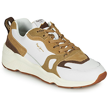 Chaussures Femme Baskets basses Pepe jeans HARLOW BASS Blanc / Beige