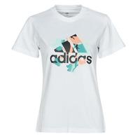 Vêtements Femme T-shirts manches courtes adidas Performance FLORAL GFX Blanc