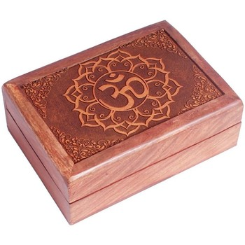 Maison & Déco Paniers, boites et corbeilles Zen Et Ethnique Boite OM en bois sculpté Marron
