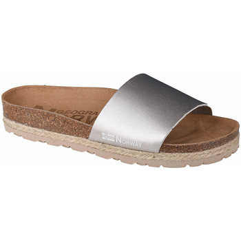 Chaussures Femme Mules Geographical Norway Sandalias Baja Verano Argent