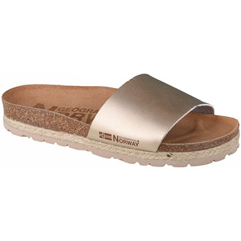Chaussures Femme Mules Geographical Norway Sandalias Baja Verano Or