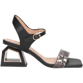 Chaussures Femme Sandales et Nu-pieds Exé Shoes Exe' MELANI-740 Sandales Femme PYTHON / NOIR PYTHON / NOIR