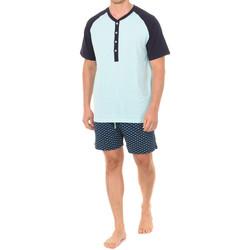 Vêtements Homme Pyjamas / Chemises de nuit J And J Brothers Pyjama à manches courtes J&J Brothers Multicolore