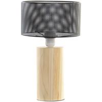 Maison & Déco Lampes à poser Retro Lampe  en bois et métal 34 cm Beige